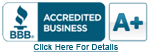 Better business bureau A+ accredited logo